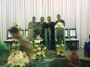 Pr. José Carlos, Pr. Carlos e Pr. Sebastião na Assembléia de Deus Perus em Lagarto/SE