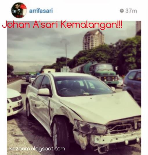Johan A'sari Kemalangan Lagi