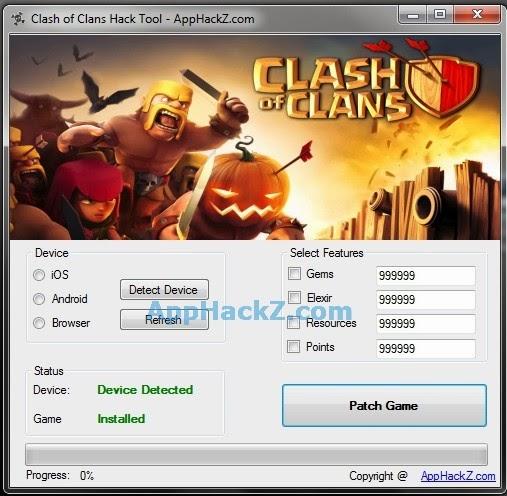 clash of clans cheat gemas