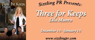 SIZZLING PR BLOG TOUR: Q&A WITH LILA MUNRO AUTHOR OF THREE FOR KEEPS