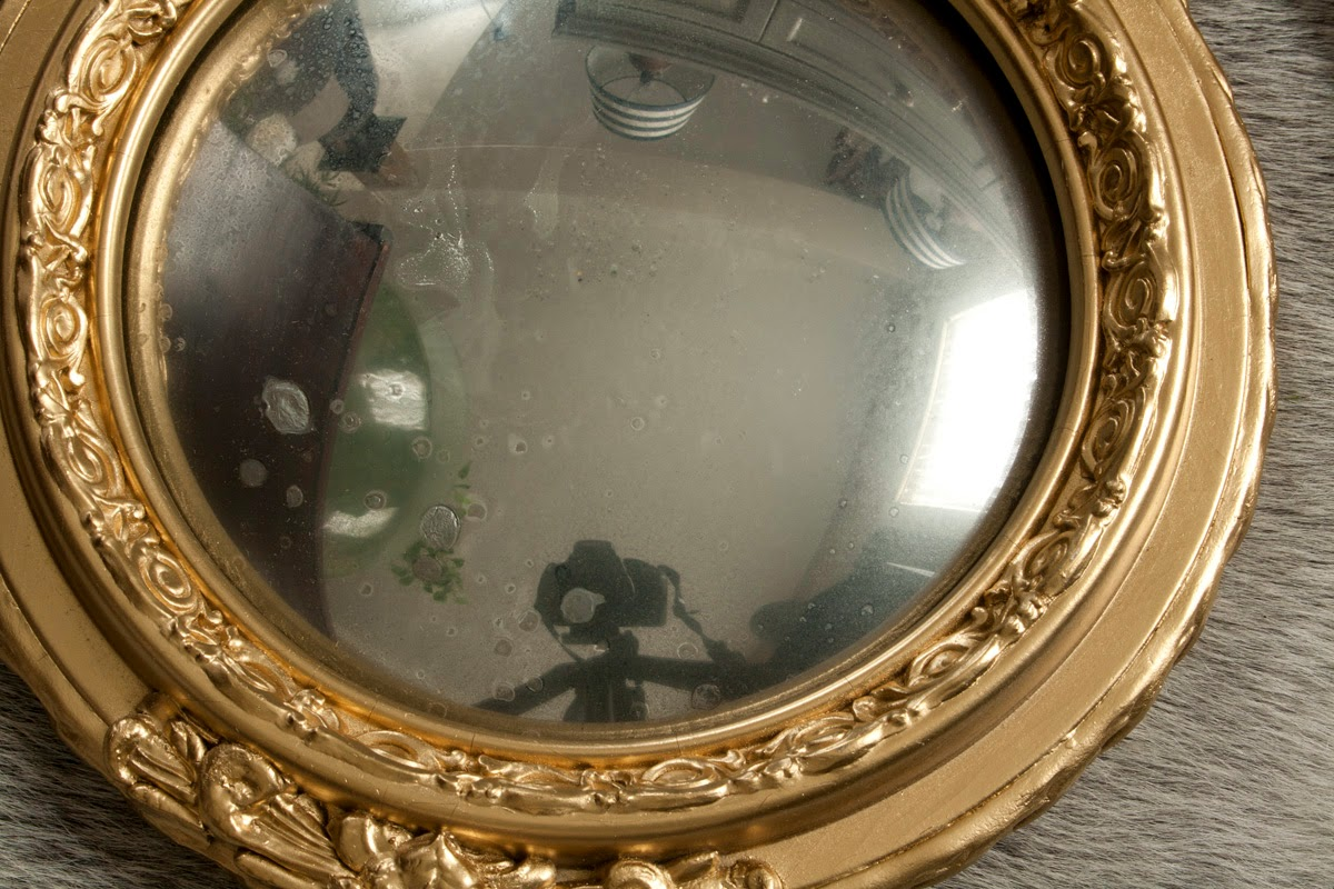 diy gold convex mirror, inspire me diy