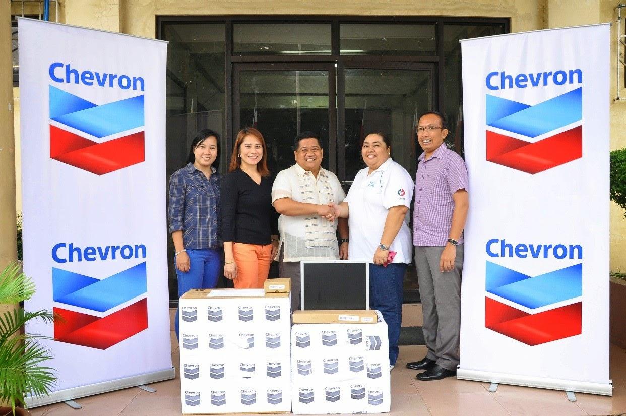 Chevron computer donation