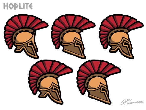 Hoplite - helmet icons