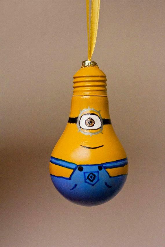 Новогодние игрушки с лампочек своими руками фото
