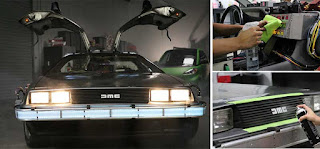 detailing, delorean, time machine, back to the future