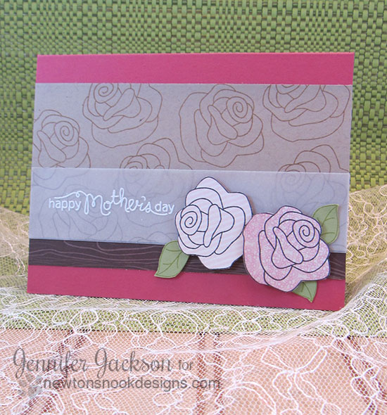 Mother's Day Rose card using Love Grows Stamp set | Newton's Nook Designs