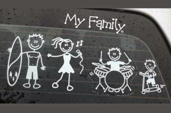 Stiker Keluarga di Kaca Mobil Hanya Eksistensi Happy Family