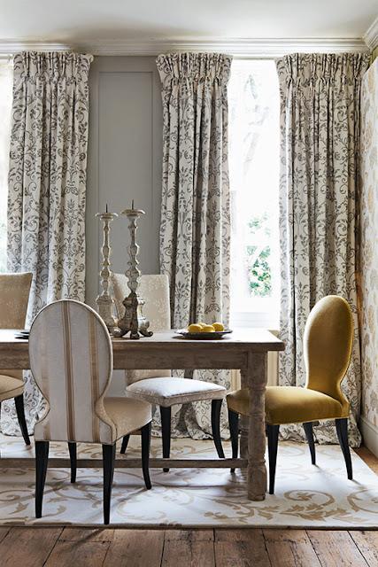 Decoraxpoco tendencia sillas diferentes para el comedor for Cortinas salon clasico