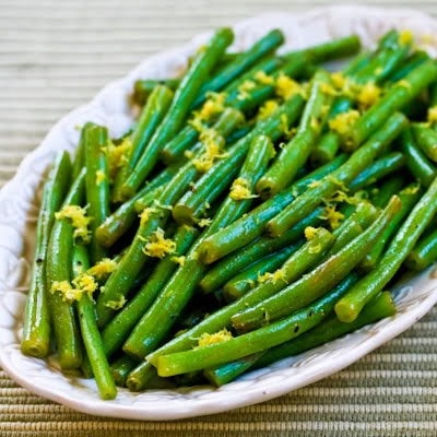Ten Favorite Deliciously Healthy Green Vegetable Recipes [found on KalynsKitchen.com]