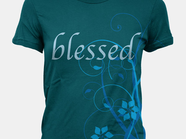 Dress Blessed Floral Illustration Design Apparel Alice Graphix AliceGraphix