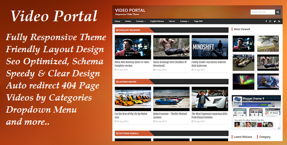 We deliberately didn't add any slider in Video Portal to give it a more professional look.