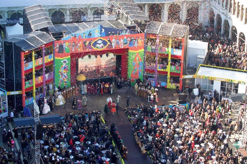 Celebración del Carnaval de Venecia