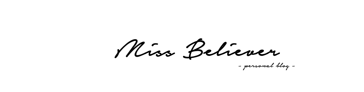 Hi Miss Believer - personal blog about beauty, fitness and lifestyle.