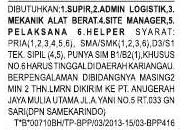 Lowongan Mekanik Alat Berat, Supir, Admin Logistik, Site Manager, Pelaksana & Helper PT. Anugerah Jaya Mulia
