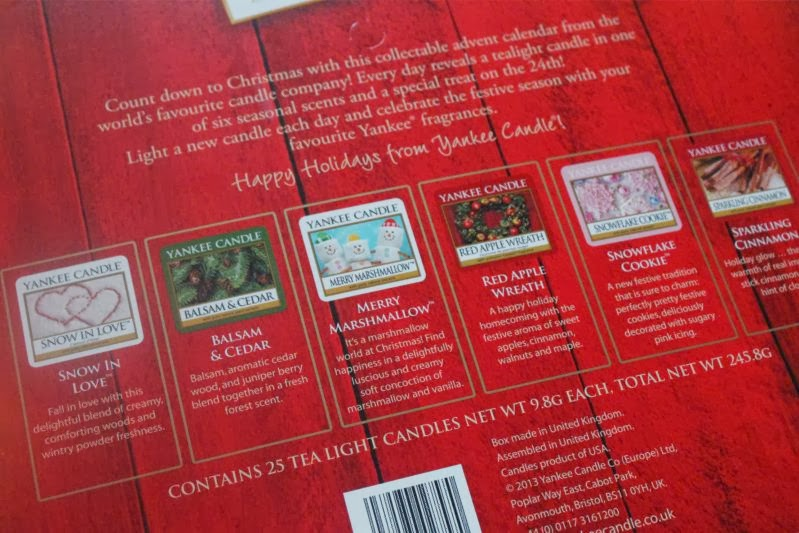 Yankee Candle Advent Calendar Spolier And Review The