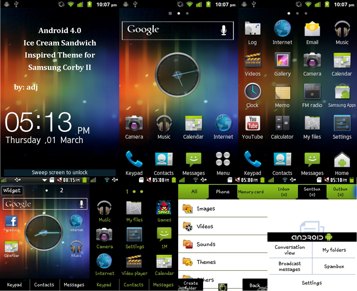 Samsung Corby 2 Theme: Android ICS Inspired by Arbie Jalapan