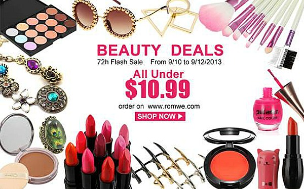 Romwe Beauty Deals - 72 Hr Flash Sale all under $10.99