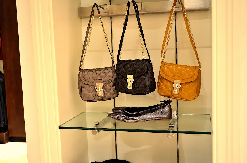 colorful mini quilted bags from banana republic