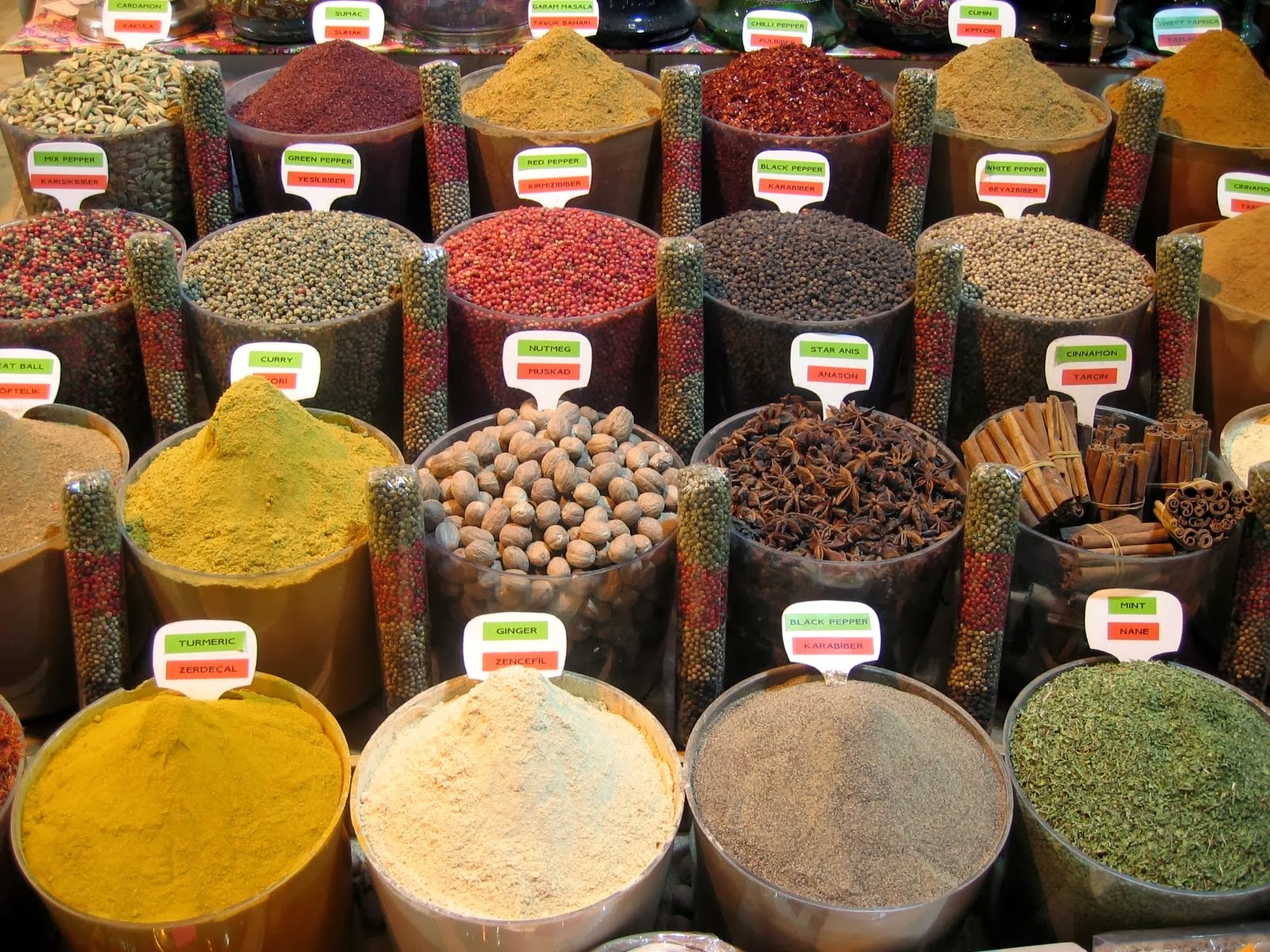 Spices photo by heydrienne WikimediaCommons