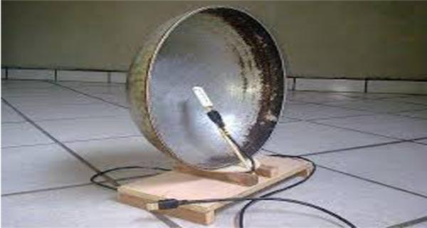 C mo hacer que una antena parab lica wi fi casera mundo for Antenas de tv interiores