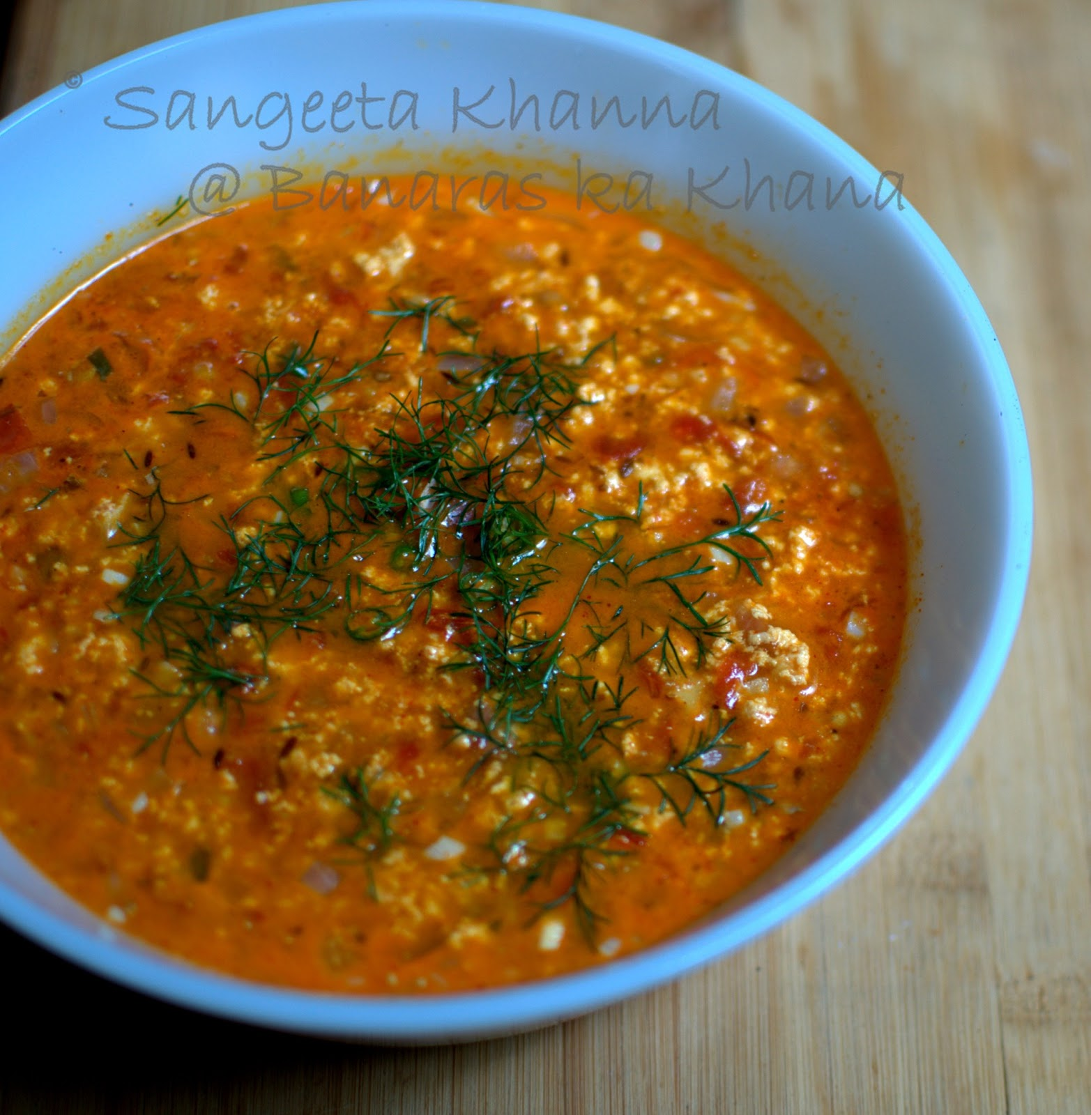 how to make paneer bhurji with gravy