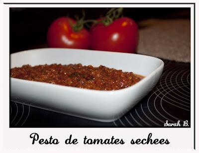 recette pesto tomates séchées