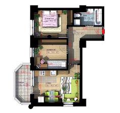 Royal Town Copou - Apartament 3 camere-semi-decomandat-54,20 mp