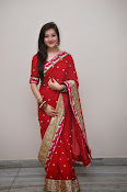 Priyal Gor Dazzling in Red Saree-thumbnail-9