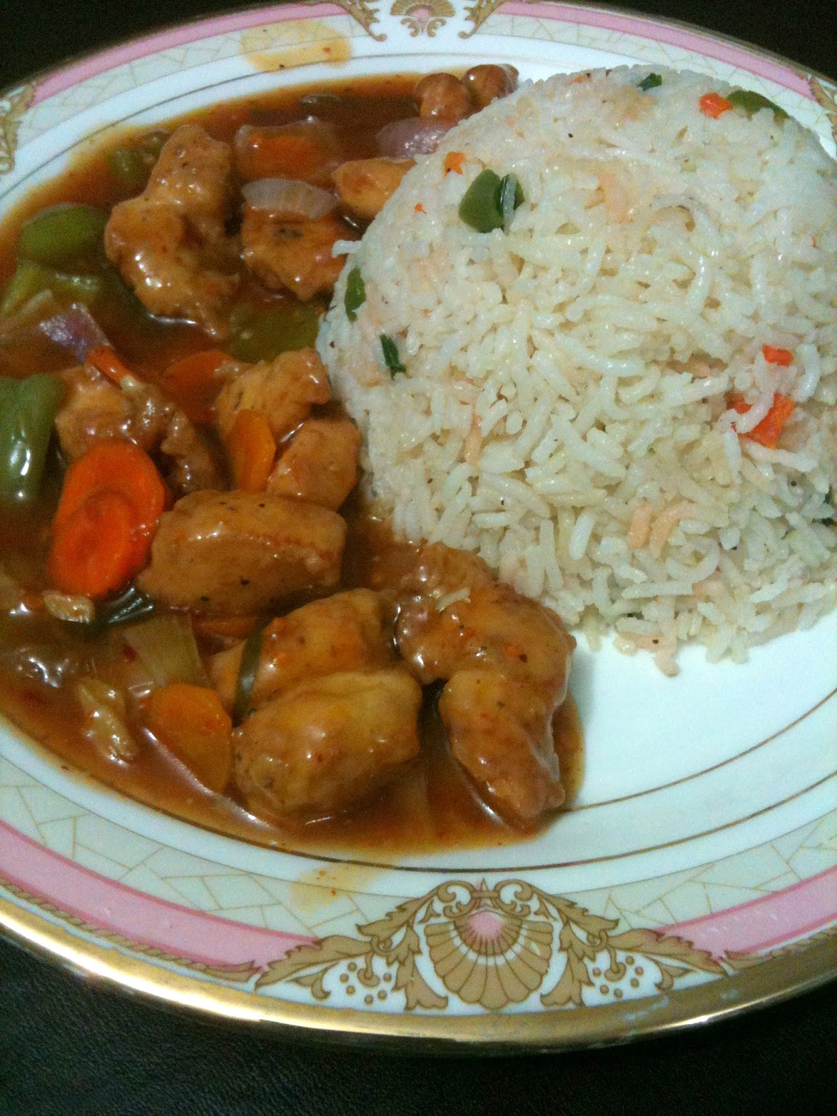 Chicken Manchurian With Fried Rice
