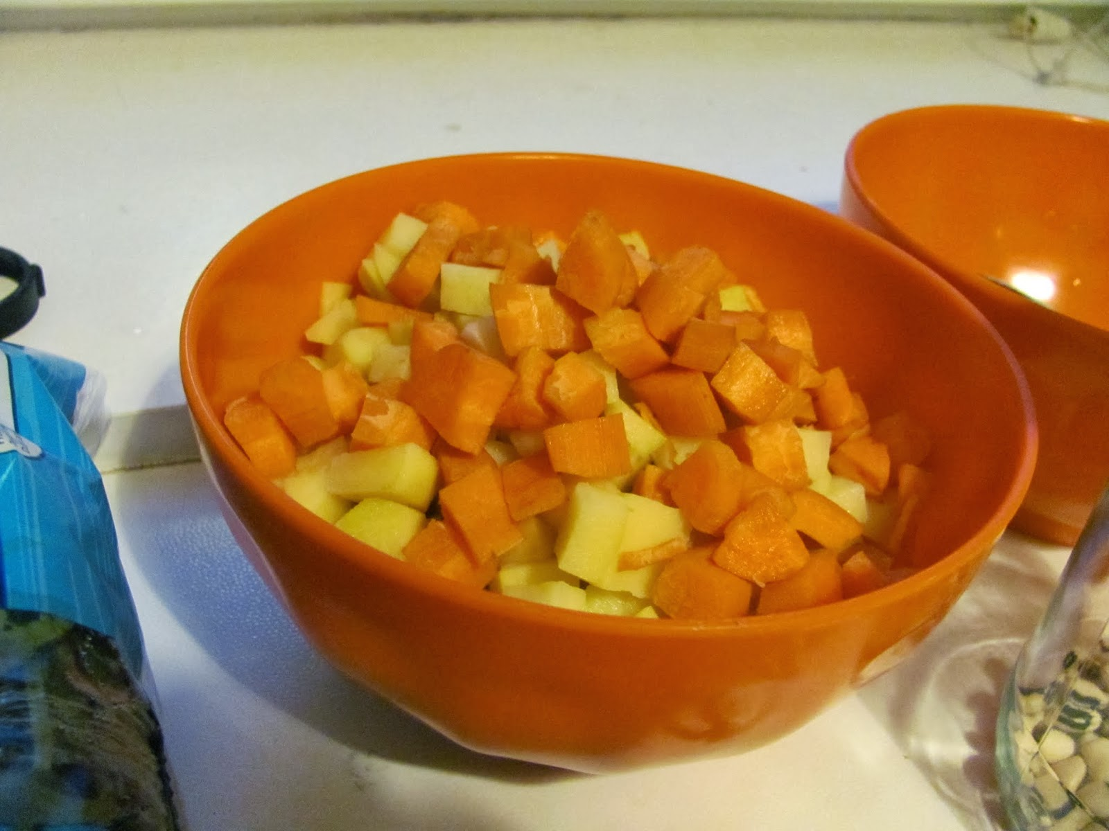 Carrots and Potatoes for soup