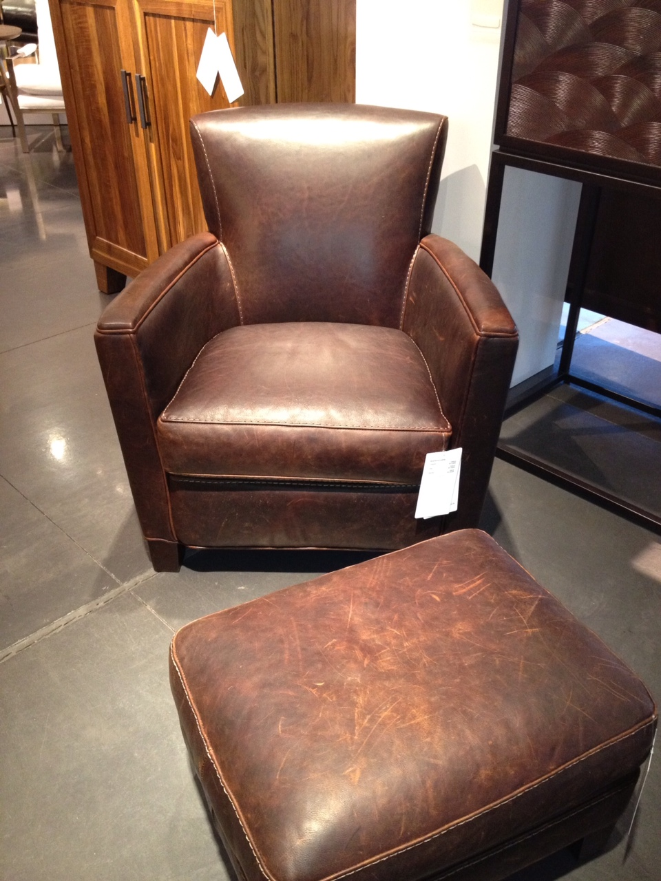 Cu0026B Briarwood Leather Chair   Leather: Cuero