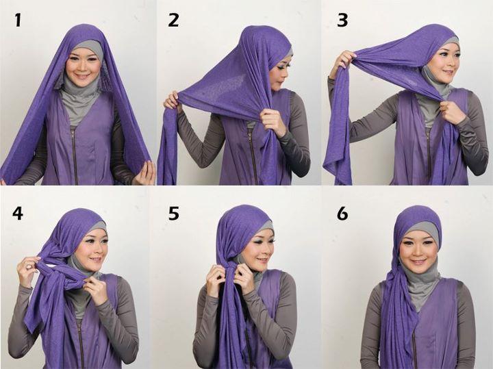 Gambar Memakai Jilbab Pasmina Kaos 2012