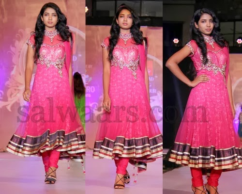 Pink High Neck Kalamandir Salwar