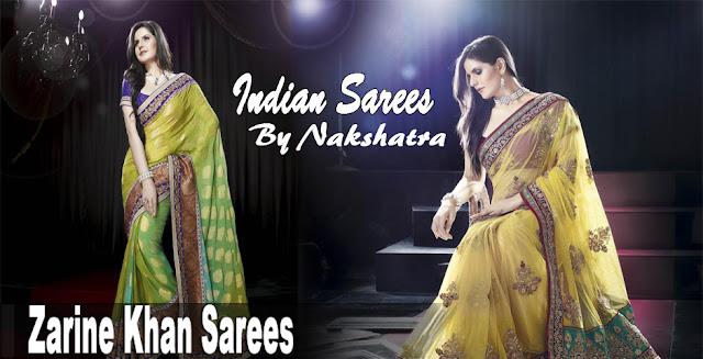 Zarine Khan Sarees By Nakshatra