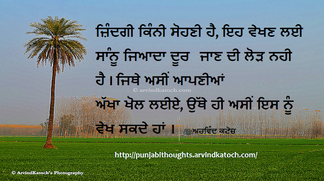 Beautiful, Life, eyes, beauty, Punjabi, Thought, Quote,