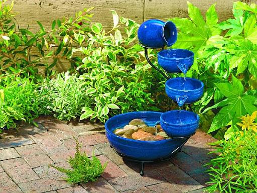Beautifull Backyard Fountain Designs Idea For Home