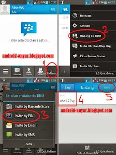 Gambar Tutorial Invite PIN BBM Android - Cara Tambah Teman ke Kontak BBM Lengkap