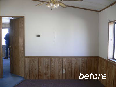 Painted half wall paneling p wall decal Ways to update wood paneling