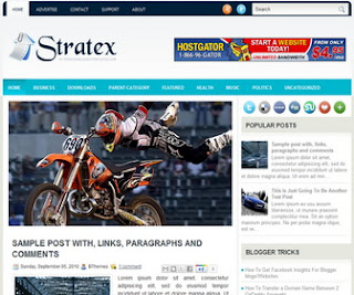 Stratex Blogger Template
