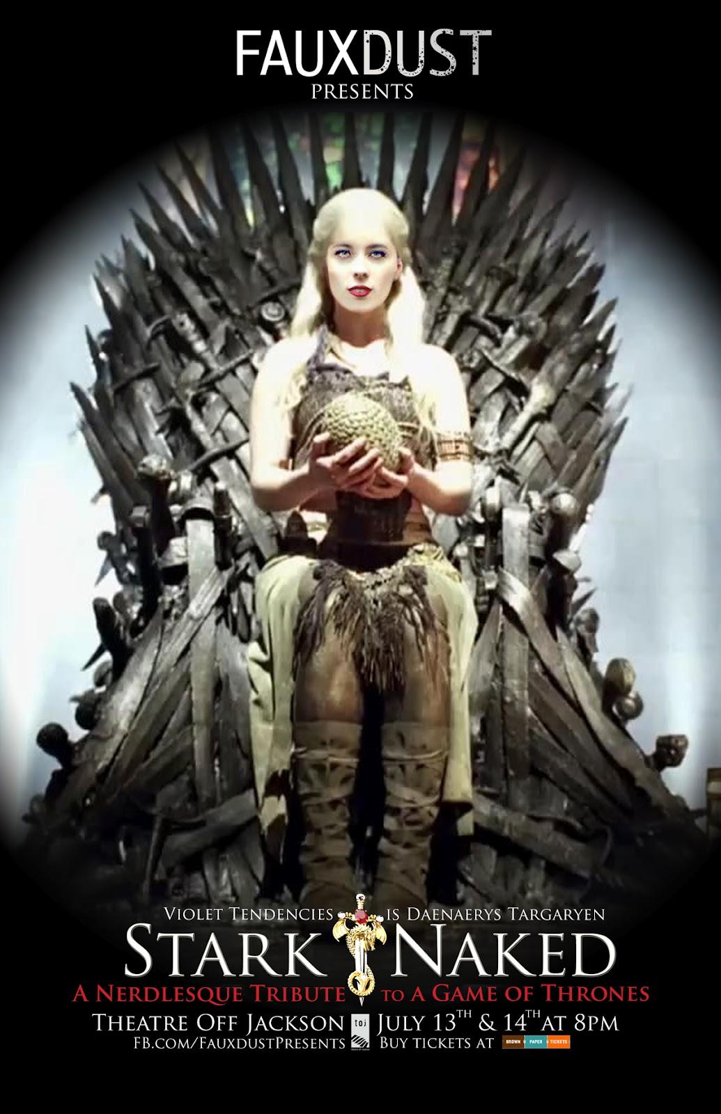 FAUXDUST Presents Violet Tendencies As Daenerys Targaryen