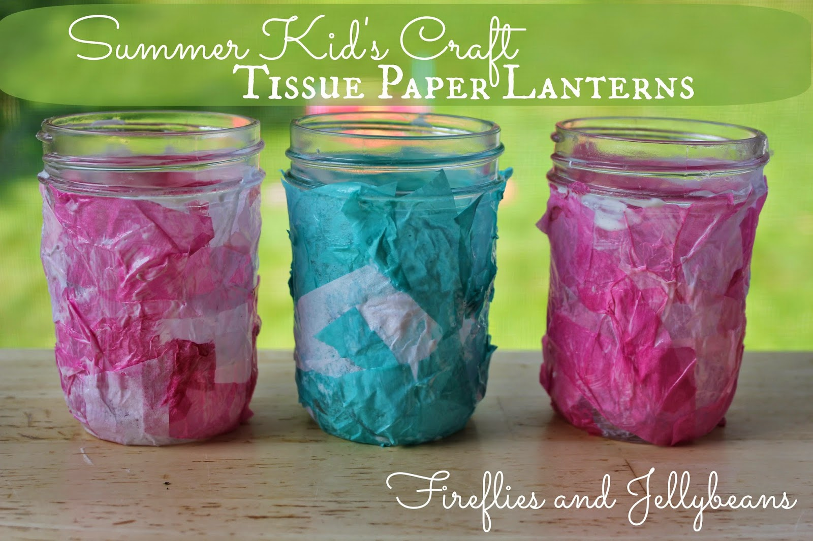 fireflies and jellybeans: easy summer kid's craft: tissue paper