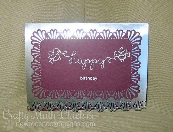 Happy Birthday Card by Crafty Math-Chick | Winged Wishes Stamp set by Newton's Nook Designs