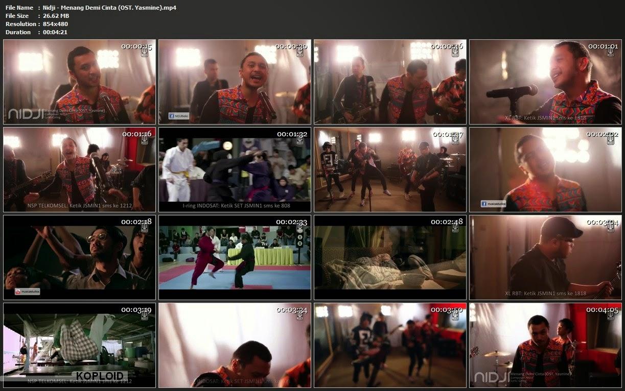 Download Video Klip Musik Nidji - Menang Demi Cinta (OST. Yasmine) Mp4