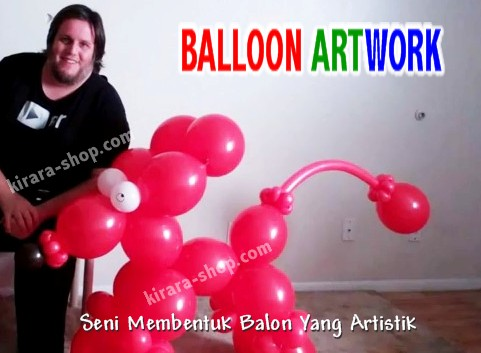 balon menjadi bentuk bunga hewan topi kue ulang tahun hiasan meja dll
