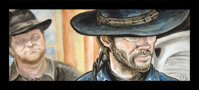 Clint Eastwood watercolor by Guillaume Néel