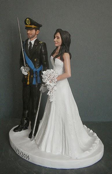 cake topper milano sposi sulla torta statuine personalizzate spada orme magiche