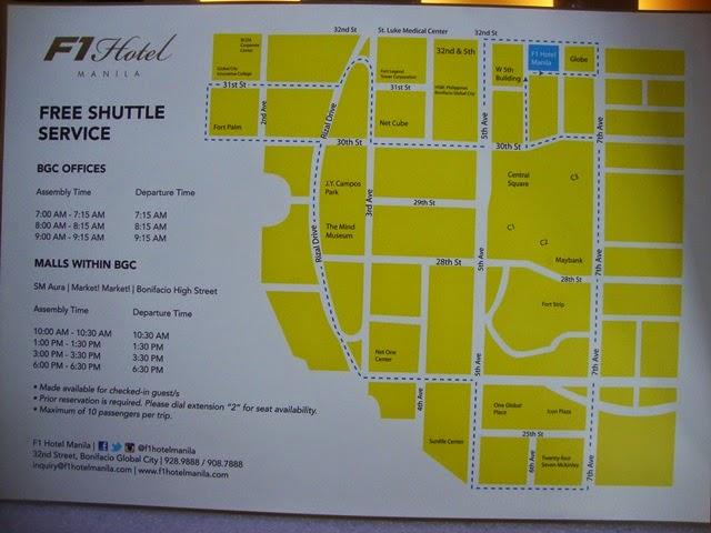 F1 HOTEL MANILA, HOTEL SERVICES, F1 SERVICES, SHUTTLE