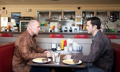 Looper movie review Emily Blunt Joseph Gordon Levitt Bruce Willis