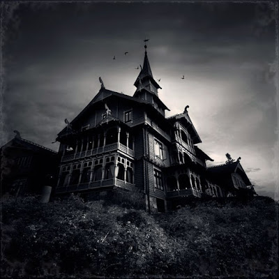 Frightening house dracula home