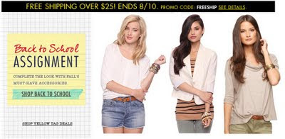 Forever 21 Canada Free shipping